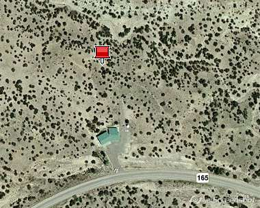 Future site of Placitas Volunteer Library: site location converted from NM NAD83 to WGS84 latitude and longitude using ExpertGPS Pro