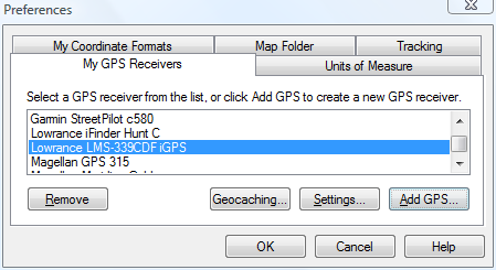 Add any Garmin, Lowrance, or Magellan GPS to ExpertGPS mapping software
