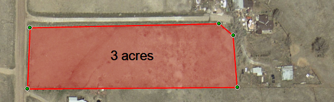 Calculating farm field acreage from GPS waypoints