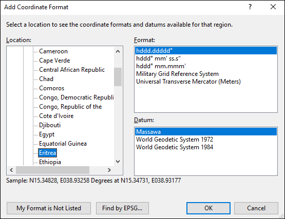 ExpertGPS is a batch coordinate converter for Eritrean GPS, GIS, and CAD coordinate formats.