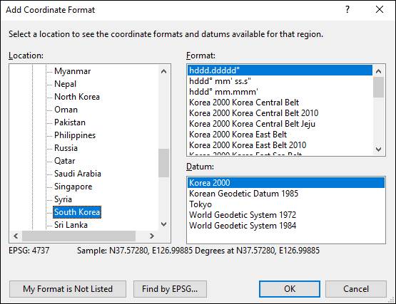 ExpertGPS is a batch coordinate converter for South Korean GPS, GIS, and CAD coordinate formats.
