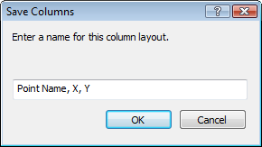 Save column presets in ExpertGPS software for GPS mapping