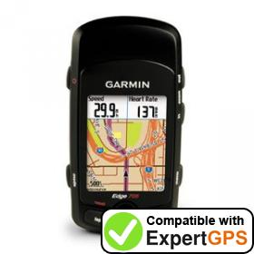 Download your Garmin Edge 705 waypoints and tracklogs and create maps with ExpertGPS