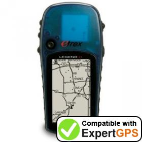 Download your Garmin eTrex Legend H waypoints and tracklogs and create maps with ExpertGPS