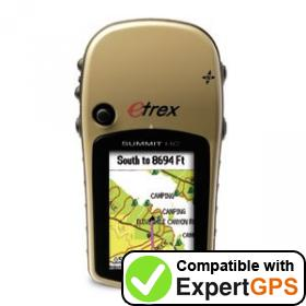 Download your Garmin eTrex Summit HC waypoints and tracklogs and create maps with ExpertGPS