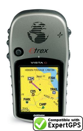 Download your Garmin eTrex Vista C waypoints and tracklogs and create maps with ExpertGPS