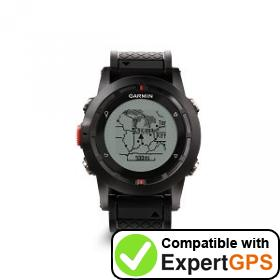 Download your Garmin fenix waypoints and tracklogs and create maps with ExpertGPS