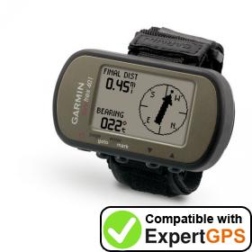 Download your Garmin Foretrex 401 waypoints and tracklogs and create maps with ExpertGPS