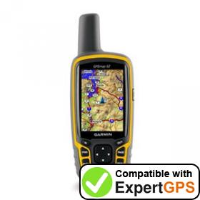 Download your Garmin GPSMAP 62 waypoints and tracklogs and create maps with ExpertGPS