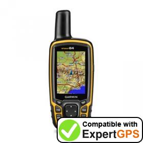 Download your Garmin GPSMAP 64 waypoints and tracklogs and create maps with ExpertGPS
