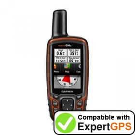 Download your Garmin GPSMAP 64s waypoints and tracklogs and create maps with ExpertGPS