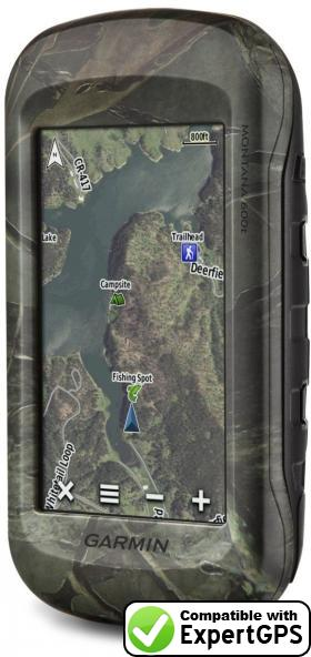 Download your Garmin Montana 600t waypoints and tracklogs and create maps with ExpertGPS
