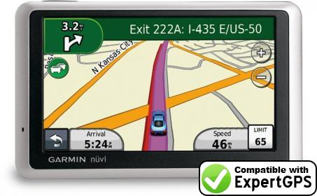 Download your Garmin nüvi 1360 waypoints and tracklogs and create maps with ExpertGPS