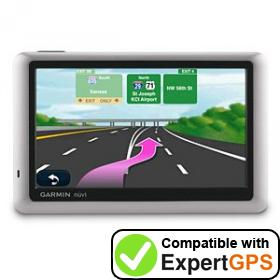 ExpertGPS supports the Garmin nüvi 1450LMT