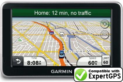 ExpertGPS supports the Garmin nüvi 2455LMT