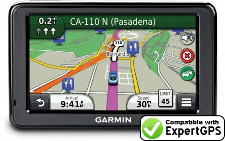 Download your Garmin nüvi 2497LMT waypoints and tracklogs and create maps with ExpertGPS
