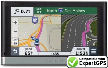 ExpertGPS supports the Garmin nüvi 2595LMT