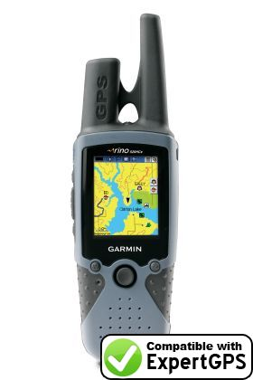 Download your Garmin Rino 520 HCx waypoints and tracklogs and create maps with ExpertGPS