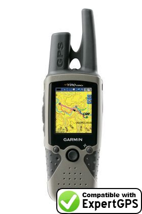 Download your Garmin Rino 530 HCx waypoints and tracklogs and create maps with ExpertGPS