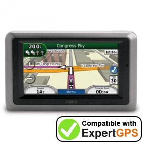 Download your Garmin zumo 660LM waypoints and tracklogs and create maps with ExpertGPS