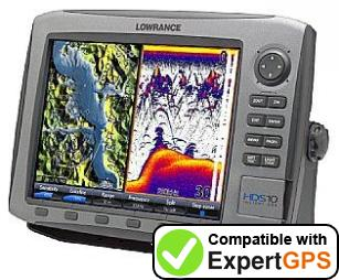 Download your Lowrance HDS-10 waypoints and tracklogs and create maps with ExpertGPS