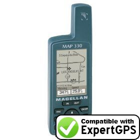 Download your Magellan MAP 330 waypoints and tracklogs and create maps with ExpertGPS