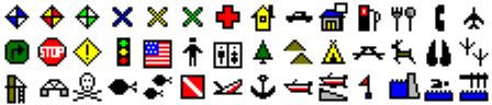 ExpertGPS map symbols for Garmin iFinder