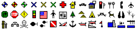 ExpertGPS waypoint symbols for Eagle IntelliMap 642C iGPS