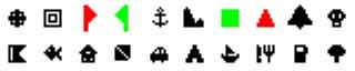 ExpertGPS waypoint symbols for Magellan GPS 315