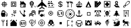 ExpertGPS waypoint symbols for Magellan SporTrak Map