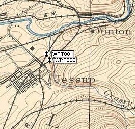Historical railroad research using old topo maps in ExpertGPS