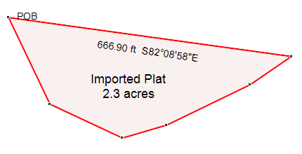 ExpertGPS lets you map your property bounds from a plat map or legal land survey