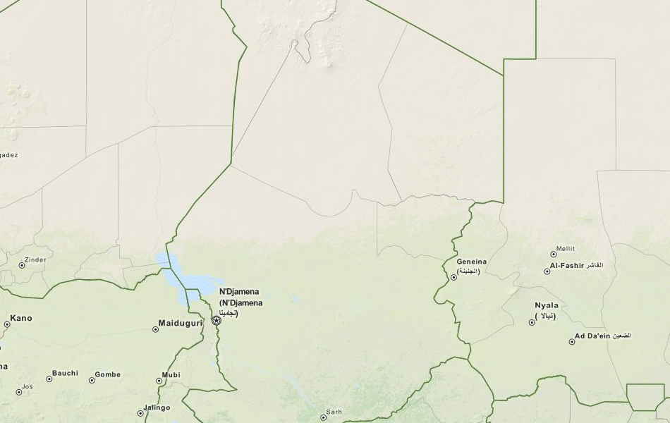 Map of Chad in ExpertGPS GPS Mapping Software