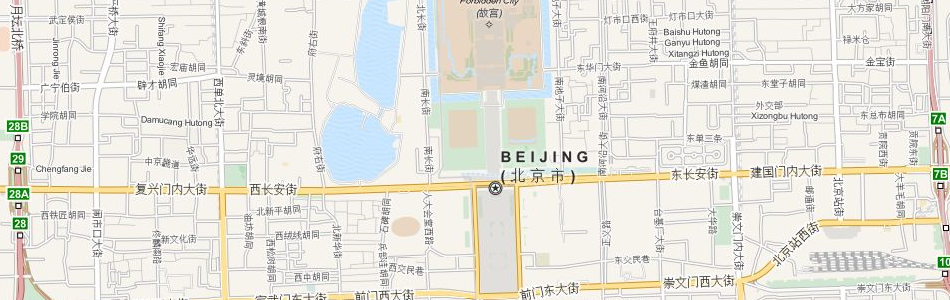 Map of China in ExpertGPS GPS Mapping Software