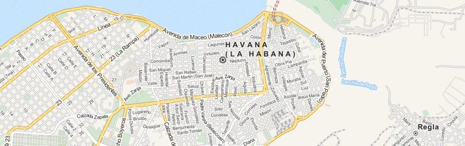 Map of Cuba in ExpertGPS GPS Mapping Software
