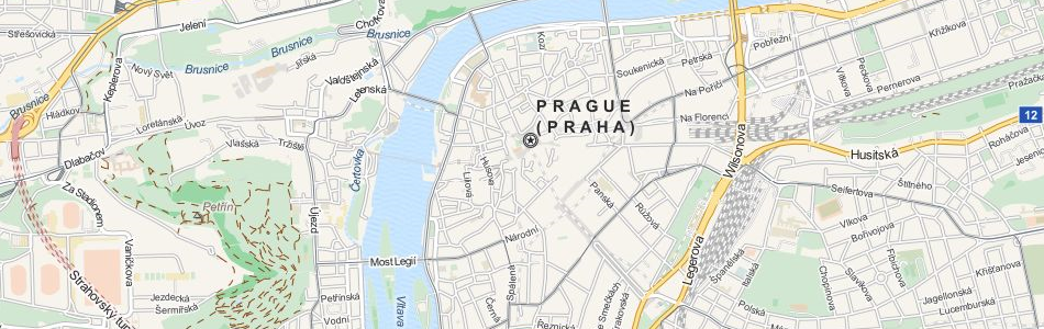 Map of Czech Republic in ExpertGPS GPS Mapping Software