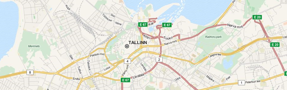 Map of Estonia in ExpertGPS GPS Mapping Software