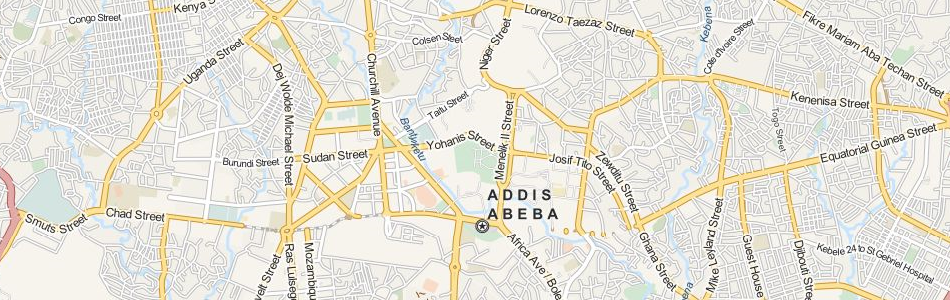 Map of Ethiopia in ExpertGPS GPS Mapping Software