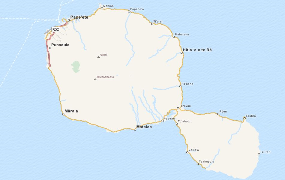 Map of French Polynesia in ExpertGPS GPS Mapping Software