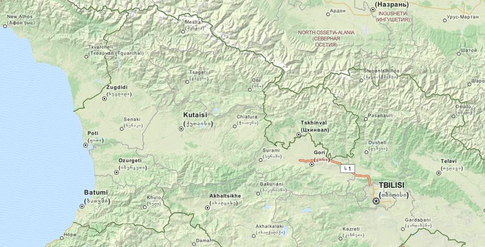 Map of Georgia in ExpertGPS GPS Mapping Software