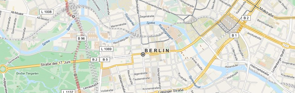 Map of Germany in ExpertGPS GPS Mapping Software