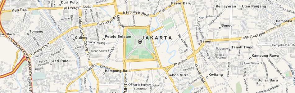Map of Indonesia in ExpertGPS GPS Mapping Software
