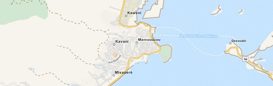 Map of Mayotte in ExpertGPS GPS Mapping Software
