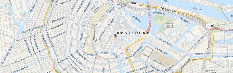Map of Netherlands in ExpertGPS GPS Mapping Software