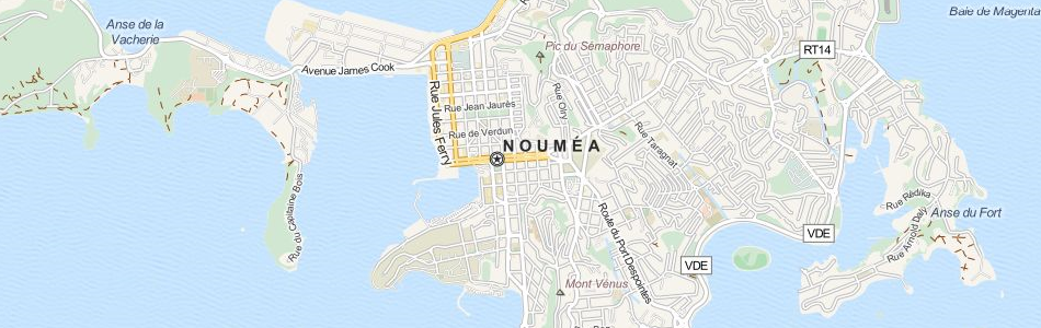 Map of New Caledonia in ExpertGPS GPS Mapping Software
