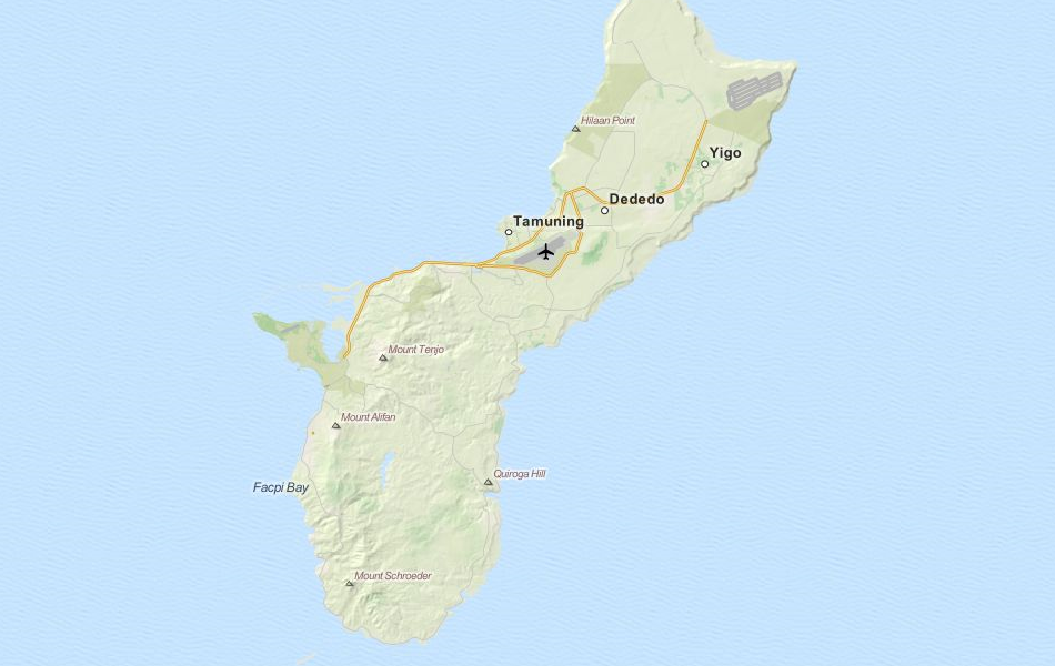 Map of Northern Mariana Islands in ExpertGPS GPS Mapping Software