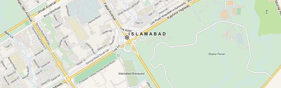 Map of Pakistan in ExpertGPS GPS Mapping Software
