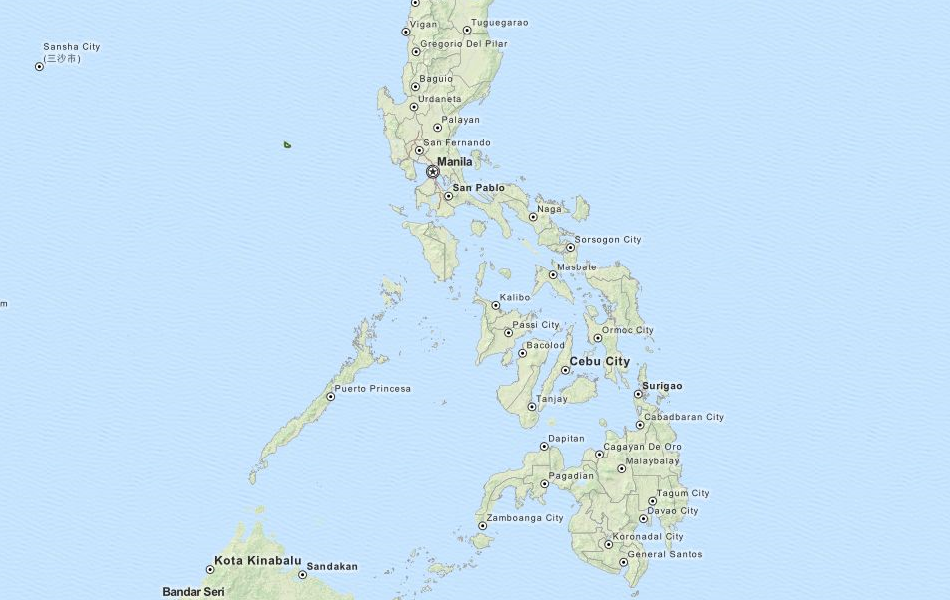 Map of Philippines in ExpertGPS GPS Mapping Software