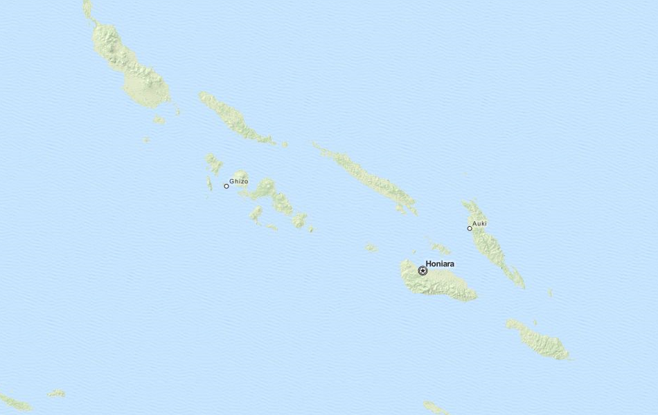 Map of Solomon Islands in ExpertGPS GPS Mapping Software