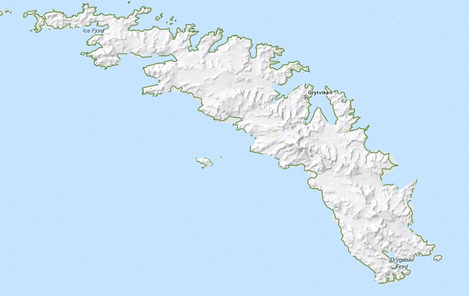 Map of South Georgia and the South Sandwich Isl in ExpertGPS GPS Mapping Software